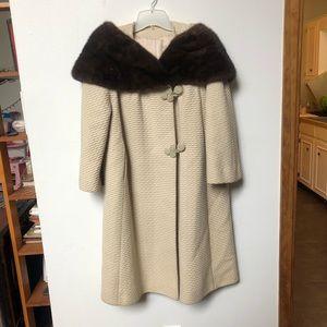 Vintage fur 1960's A-line coat